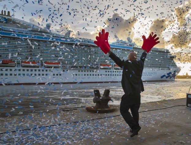 Cruise ship at Liverpool