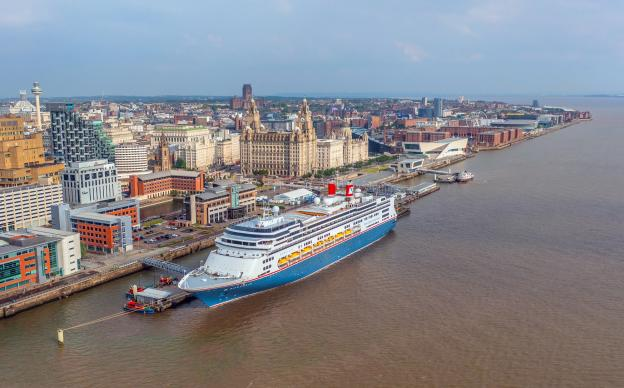 borealis cruise ship on the liverpool waterfront at liverpool cruise terminal